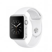 Apple Watch Series 1 - 42mm pouzdro ze stříbrného hliníku – bílý sportovní řemínek