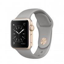 Apple Watch Series 2 - 38mm pouzdro ze zlatého hliníku – cementově šedý sportovní řemínek