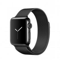 Apple Watch Series 2 - 38mm pouzdro z vesmírně černé nerezové oceli – vesmírně černý milánský tah (rozbalené, záruka 6 měsíců)