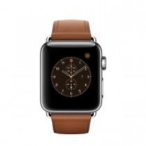 Apple Watch Series 2 - 38mm pouzdro z nerezové oceli – sedlově hnědý řemínek s klasickou přezkou (otevřené, záruka a odpovědnost z vad 12 měsíců u iSTYLE)