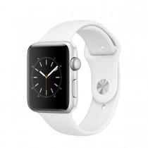 Apple - Watch Series 2 - 42mm pouzdro ze stříbrného hliníku – bílý sportovní řemínek (rozbalené, záruka a odpovědnost z vad 12 měsíců)