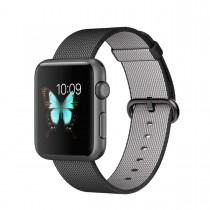 Apple Watch Sport - 42mm pouzdro z vesmírně šedého hliníku s černým řemínkem z tkaného nylonu (servisované, záruka a odpovědnost z vad 12 měsíců)