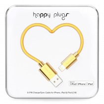 Happy Plugs Lightning to USB Cable (2.0m) - Gold
