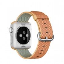 Apple 38mm zlatý/červený řemínek z tkaného nylonu