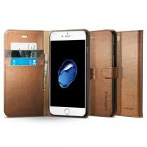 Obal na iPhone 7 Plus Spigen Wallet S - hnědý