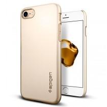 Spigen Thin Fit - ultra tenký kryt pro iPhone 7 Plus, zlatý