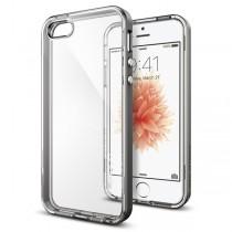 Spigen Neo Hybrid Crystal - tenký kryt pro iPhone SE / 5s / 5 - čenrý