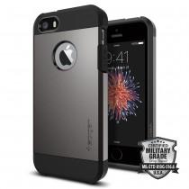 Spigen pevný kryt pro iPhone SE / 5s / 5 – světle šedý
