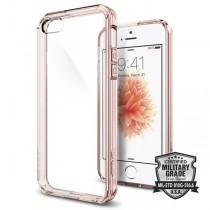 Spigen Ultra Hybrid, tenký kryt pro iPhone 5s / SE - růžový