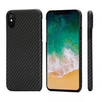 Pitaka Aramid ochranný kryt pro iPhone X - černý/šedý