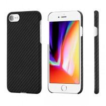 Pitaka Aramid ochranný kryt pro iPhone 8 - černý/šedý
