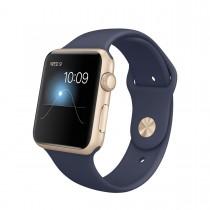 Apple Watch Sport - 42mm pouzdro ze zlatého hliníku s půlnočně modrým sportovním řemínkem (servisované, záruka a odpovědnost z vad 12 měsíců)