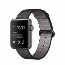Apple Watch Series 2 - 38mm pouzdro z vesmírně šedého hliníku – černý řemínek z tkaného nylonu (rozbalené, záruka 6 měsíců)