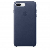 Apple kožený kryt na iPhone 8 Plus / 7 Plus – půlnočně modrý