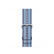Apple 38mm půlnočně modrý řemínek z tkaného nylonu (proužky)