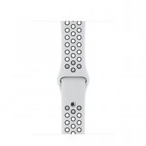 Apple 42mm platinový/černý sportovní řemínek Nike – S/M a M/L