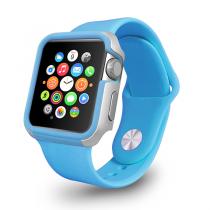 Ozaki O!coat Shockband, modrý rámeček pro Apple Watch 42mm