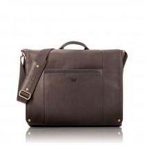 """Solo Hudson Leather Messenger - kožená taška pro 16"""" Macbook/laptop - espresso"""