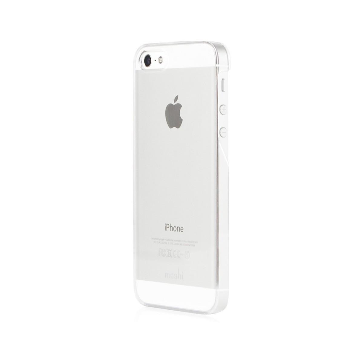 Moshi - iGlaze XT snap on case iPhone 5/5s/SE pattintós tok - áttetsző