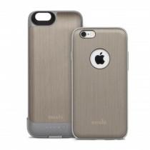 Moshi - iGlaze Ion Battery iPhone 6/6s tok + külső akkumulátor - Titánium