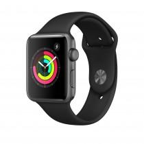 Apple Watch Series 3 - asztroszürke alumíniumtok fekete sportszíjjal