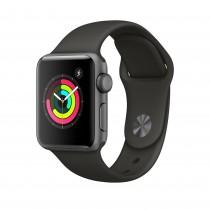 Apple Watch Series 3 - asztroszürke alumíniumtok szürke sportszíjjal