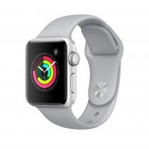 Apple Watch Series 3 - ezüstszínű alumíniumtok ködszürke sportszíjjal