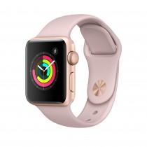 Apple Watch Series 3 - aranyszínű alumíniumtok rózsakvarcszínű sportszíjjal