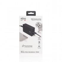 Aiino - Asztali prémium töltő (5xUSB/8A) - Fekete