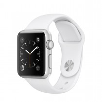 Apple Watch Series 1 - ezüstszínű alumíniumtok fehér sportszíjjal