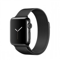 Apple Watch Series 2 - 38 mm-es, asztrofekete rozsdamentes acél tok asztrofekete milánói szíjjal