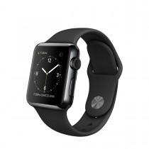Apple Watch - 38 mm-es, rozsdamentes acél asztrofekete tok fekete sportszíjjal