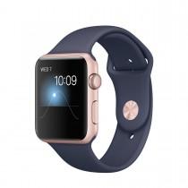 Apple Watch Series 2 - 42 mm-es, rozéarany színű alumíniumtok éjkék sportszíjjal