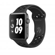 Apple Watch Series 3 Nike+ asztroszürke alumíniumtok antracit–fekete Nike sportszíjjal