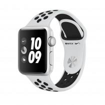 Apple Watch Series 3 Nike+ ezüstszínű alumíniumtok platinaszín–fekete Nike sportszíjjal