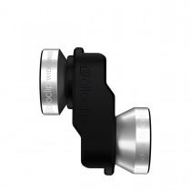 OlloClip - iPhone SE/5s/5 4 az 1-ben lencse - Ezüst/Fekete