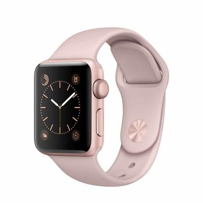 Apple Watch Series 2 - 38mm puzdro z ružovo zlatého hliníka - pieskovo ružový športový remienok