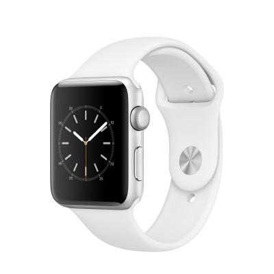 Apple - Watch Series 2 - 42mm puzdro zo strieborného hliníka - biely športový remienok
