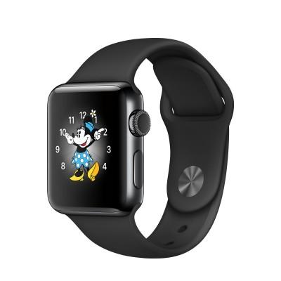 Apple Watch Series 2 - 38mm puzdro z vesmírne čiernej nerezovej ocele - čierny športový remienok