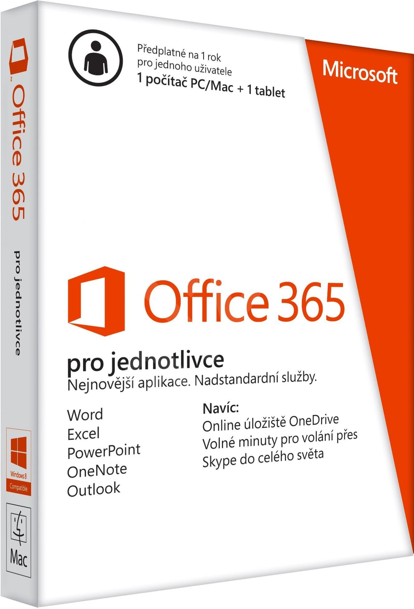 Microsoft Office 365 pre jednotlivcov - predplatné na 1 rok