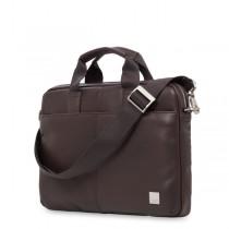 """Knomo STANFORD Small kožená taška pre MacBook Air/Pro 13"""" - hnedá"""