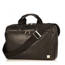 """Knomo NEWBURY kožená taška pre MacBook Pro 15"""" - čierna"""
