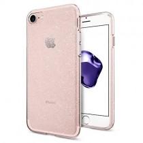 Spigen Liquid Crystal Glitter - kryt pre iPhone 7/8 - priehľadný/ružový
