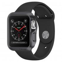 Spigen Slim Armor ochranné puzdro pre Apple Watch 3/2/1 42 mm - vesmírne šedé