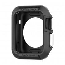Spigen Rugged Armor tenký kryt pre Apple Watch 38 mm - čierny