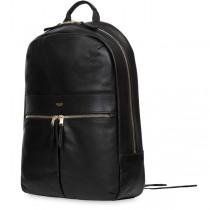 Knomo BEAUX kožený ruksak - čierny