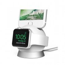 iOttie OmniBolt nabíjací stojan pre Apple Watch a iPhone  - strieborný