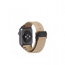 Decoded kožený remienok pre Apple Watch (42mm) - hnedý