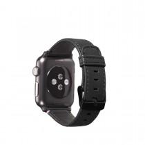 Decoded kožený remienok pre Apple Watch (38mm) - čierny