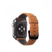 Decoded kožený remienok pre Apple Watch (38mm) - hnedý